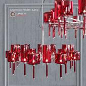 Люстра AXO Light Spillray SP lamps 20 red glass