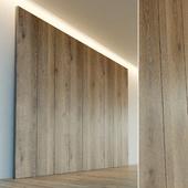 Decorative wall. Wall panel made of wood. nineteen