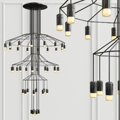 Vibia Wireflow Chandelier 0378 LED Suspension 42 lamp