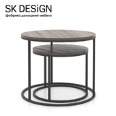 OM Set of round coffee tables Loft