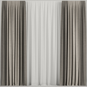 Curtains in two colors.
