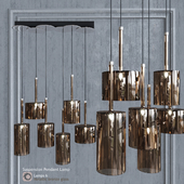 Подвесной светильник AXO Light Spillray SP lamps 6 glass metallic bronze
