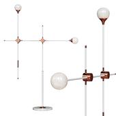 Floor lamp Baton FLOR LAMP white / copper 2 shades