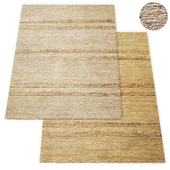 Wabi-Sabi Hand-Knotted Stripe Jute Rug RH Collection