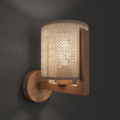 Moreno wall lamp with beige lampshade