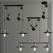 Edison loft chandelier