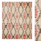 Aztec Handwoven Wool Shag Rug RH