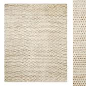Dot Hand-Knotted Wool Shag Rug RH