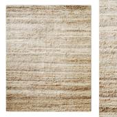 Palette Stripe Hand-Knotted Wool Shag Rug RH