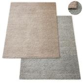 Honeycomb Handwoven Wool Flatweave Rug RH Collection
