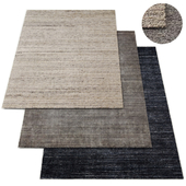 Marled Stripe Loom-Knotted Wool Rug RH Collection