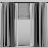 Dark curtains.