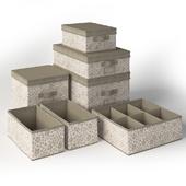 Set of boxes Ikea STORSTABBE Beige