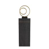 Eccotrading Plinth + Bronze Hoop Sculpture