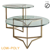 Bassett Mirror Thoroughly Modern Round End Table and Cocktail (low poly)