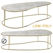 Ocher moon pebble medium coffe table (low poly)
