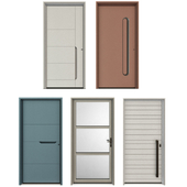 Entrance metal doors
