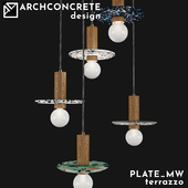 OM Plate_MW Pendant lamp- terrazzo series by Archconcrete