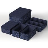 Set of boxes Ikea STORSTABBE Blue