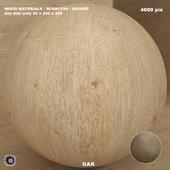 Wood / oak material (seamless) - set 73