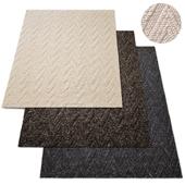 Aran Chevron Handwoven Wool Rug RH Collection