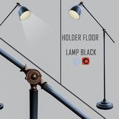 Holder Floor Lamp Black