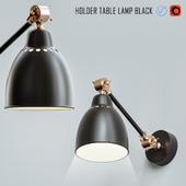 Holder Table Lamp Black