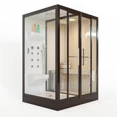 Banff S-45R shower cabin with sauna