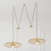 Florian Schulz Double Onos 55 Pendant Lamp with Side Counter Weights