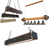 small pack wooden Ceiling light
