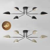 Industrial Modern 3-6 Light Ceiling Lamp