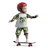 Child on a skateboard