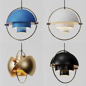 Danish GUBI Replica Modern BLack, White, BLue and Gold