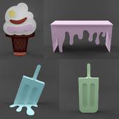 Ice cream photo props