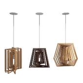 Twist Wooden Lamps