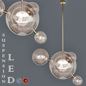 Suspension LED design BUBBLE LAMP 4 and 5 Lamp