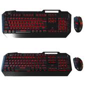 Computer mouse + backlit keyboard