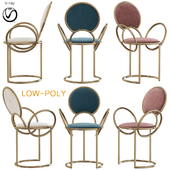 Chair With Delicate Loop Armrests By Studio (low poly)