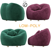 The Lovers Velvet Chair (low poly)
