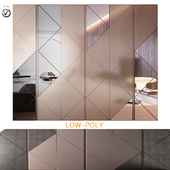 Wardrobe with sliding doors MADRAS By Gruppo Tomasella (low poly)
