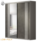 Hokku Designs Modern 2 Door Sliding Wardrobe (low poly)