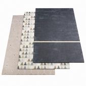 Three ASPLUND rugs - 1-5