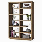 bookshelves with decor