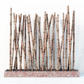 Bamboo decor fundament random