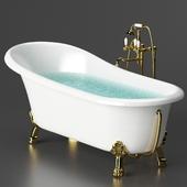 Acrylic bathtub BelBagno BB04 + Cezares mixer