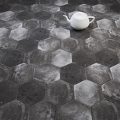 CIR Esagona Pitch Black (Ex Pece) Tile Set