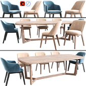 Coco Arm Dining Chair Set 02