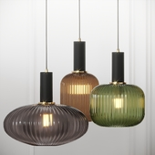 Nordic Style Ribbed Glass Mini