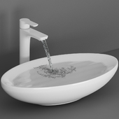 Ceramic Wash Basin With Falling Water