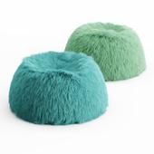 Two Himalayan Faux-Fur Beanbag